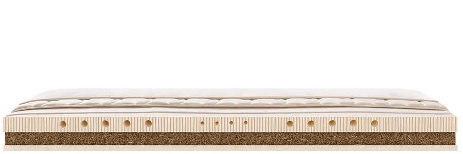 Matratze aus Seegras mit Innenansicht